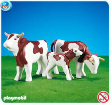 PLAYMOBIL #7079 RETIRED DISCONTINUED 2 COWS WITH CALF ADD ON SET BRAND NEW