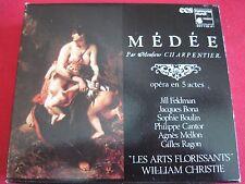 CHARPENTIER-MEDEE LES ARTS FLORRISANTS (1984) HARMONIA MUNDI FRANCE - RARE 3 CD