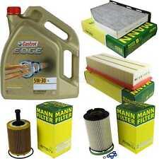 Inspection Kit Filter Castrol 5L Oil 5W30 For VW Touran 1T1 1T2 2.0 Tdi 16V