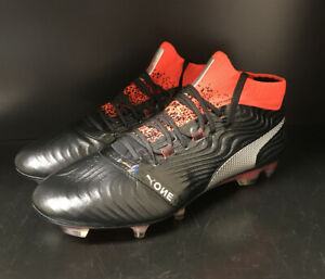 Puma One 18.1 Fg Soccer Cleats - Black/Red - Multiple Sizes - New In Box