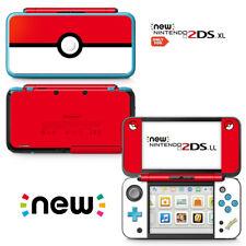 Ci-Yu-Online [new 2DS XL] Pokemon Poke Ball Red White VINYL SKIN STICKER DECAL
