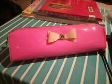 Ted baker bag Neon Pink shimmer bow pencil case makeup pouch bag
