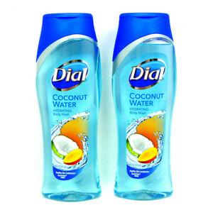 2X DIAL COCONUT WATER HYDRATING BODY WASH 21 OZ EA CLEAN RINSING RICH LATHER