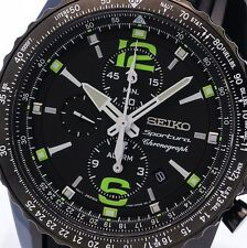 NEW MEN'S SEIKO SPORTURA ALARM CHRONOGRAPH SPORTS WATCH SNAE97P1 / SNAE97
