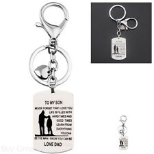 Dog Tag Keychain Gift Father Son Pendant To My Son Never Forget That I Love You
