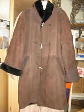 W@W! Beautiful Sz 8 Lagerfeld Woman's Shearling Sheepskin Long Coat Late 80s 90s