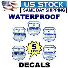 5 BRINKS ADT HOME SECURITY ALARM SYSTEM WINDOW WARNING STICKERS DECALS LOT
