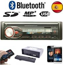 Auto Radio Para Coche Bluetooth FM MP3 SD/USB/AUX quita Frontal y Mando