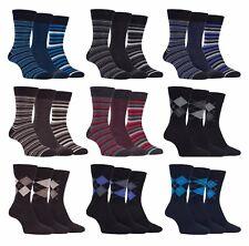 Farah - 3 Pairs Mens Breathable Soft Top Argyle Striped Cotton Business Socks
