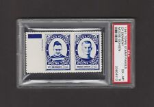 1961-62  TOPPS STAMP PANELS CY DENNENY / MOOSE GOHEEN   PSA 6