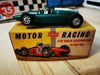 Vintage scalextric Airfix MRRC Green Cooper F1 Slot working boxed