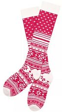 NWT VICTORIA'S SECRET RED WHITE SNOWFLAKE FAIR ISLE SOFT COMFY SOCKS XS/S Womens