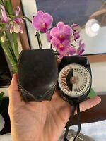 Vintage DeJur Amsco Model 50 Photoelectric Exposure Light Meter W/ CASE