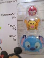 New! -CHESHIRE CAT, TIGGER, and STITCH New Tsum Tsum 3 Pack Series 1 Disney #78