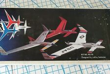 VINTAGE SIG TRI- STAR CANARD LONG EZ Balsa Wood RC Airplane Kit WS 47.5'' NOS