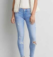 *NWOT AMERICAN EAGLE OUTFITTERS SUPER LOW AEO DENIM X CAFE JEGGING JEANS SZ 2