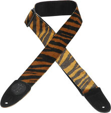 "Levy's MSSF8-TIG 2"" Faux Animal Fur Guitar/Bass Strap - Tiger Pattern"