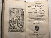 1811AVENTURES TELEMAQUE FILS ULYSSE FENELON GRECE LIVRE BOOK GRAVURES VOYAGE MER