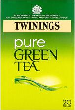 TWININGS PURE GREEN TEA 20 TEA BAGS