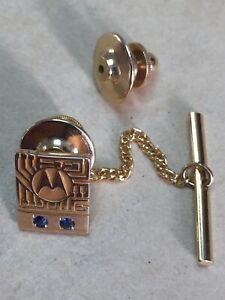 Gold Badge / Tie Pin.  Motorola   Solid Gold  Pin