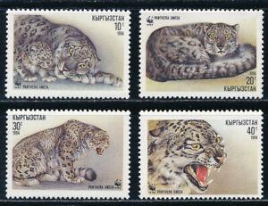 Kyrgyzstan - Wild Animals Cat Stamps Set MNH (1994)
