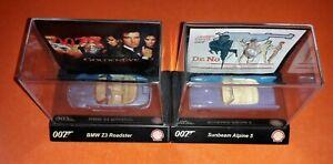 SHELL JAMES BOND 007 CAR COLLECTION BMW Z3 ROADSTER GOLDENEYE + SUNBEAM ALPINE 5