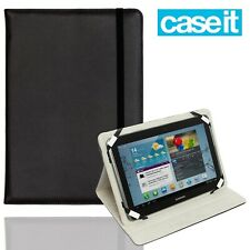"CaseIt Folio Universal 10.1"" Tablet Stand Cover Tough Flip Protective Case Black"