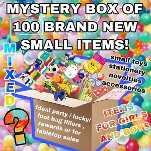Joblot 100 Mixed Brand New Small Items Party Bag Filler Gifts Wholesale Bundle