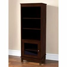 Audio Pier Side Tower Cabinet Entertainment Media TV Center W/ 3 Shelves,cherry