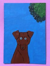 Original Aceo Art Card - Pinscher - Acrylic Painting