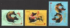 SINGAPORE 2018 ZODIAC YEAR OF DOG COMP. SET OF 3 STAMPS IN MINT MNH UNUSED