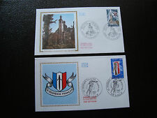 FRANCE - 2 enveloppes 1er jour 1977 (souv fran/insti catholique) (cy89) french