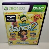 Nickelodeon Dance 2 (Microsoft Xbox 360 Kinect, 2012) Tested Kinect Required