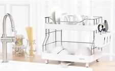 2 Story Mini Dish Rack Set, Stainless Steel 204 + ABS