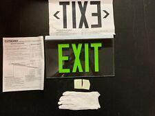 Exitronix 900 Series Glass Exit Sign Ex 902ulbgcxxba