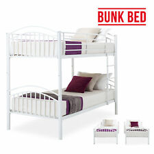 3FT Single Metal Bunk Bed Frame Can Splits into 2 Singles Twins White Furniture