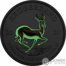 IRRADIATED KRUGERRAND Glow In The Dark 1 Oz Silver Coin 1 Rand South Africa 2020