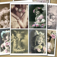 16 x Beautiful Vintage Victorian and Edwardian images,sticker decoupage decal