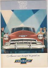 [61057] 1952 CHEVROLET NEW MODELS (STYLELINE DE LUXE SEDANS, COUPES) BROCHURE
