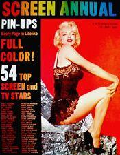 Marilyn Monroe Magazine 1955 Screen Annual Pinups Elizabeth Taylor Grace Kelly