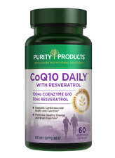 Co-Q10 Daily with Resveratrol - 60 Veggie Capsules - Purity Products