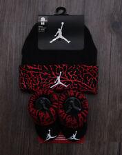 Air Jordan Baby Boy Infant Hat & Booties Set ~ Black, Red & White ~ 0-6 Months