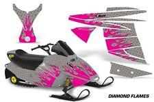AMR Racing Ski Doo Mini Z Kids Snowmobile Wrap Sled Graphics Kit DIAMOND FLAME P
