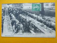 carte postale BRETAGNE fête mariage  noces bretonnes banquet Poermel