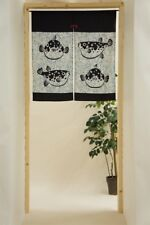 JAPANESE Noren Curtain NEW  OWL FUGU FISH MADE IN JAPAN  85x90cm