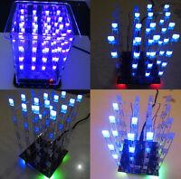 1Stk 4*4*4 3D LED LightSquared Weiß LED Blue Ray LED Cube DIY Kit Neu