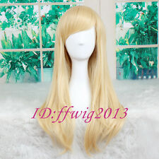 "23"" Blonde Kingdom Hearts Namine Straight long Anime Cosplay Wig +FREE WIG CAP"