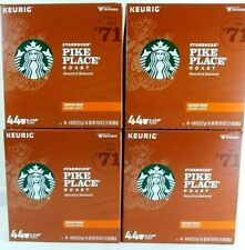 176 Starbucks Medium Roast K-Cup Coffee Pods - 4 Boxes of 44 Pike Place Pods