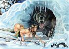 Cavewoman Snow Special Edition 4 Topless Signed Print by Budd Root