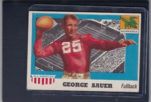 1955 Topps All American #31 GEORGE SAUER EX+ Nebraska Cornhuskers Football Card